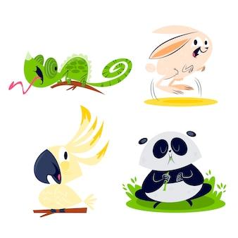 漫画の動物コレクション