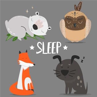Cartoon animals vector illustration
