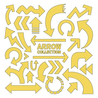 Cartoon arrow collection