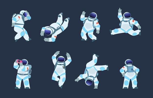 Иллюстрация шаржа космонавта