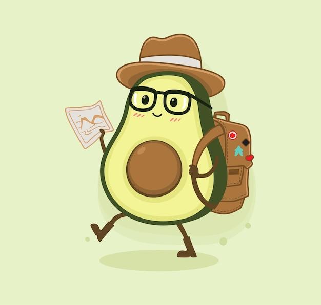 Cartoon avocado adventure