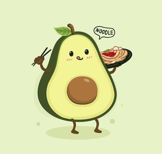 Мультфильм авокадо и лапша ми