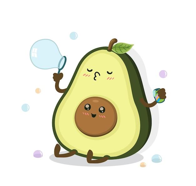 Мультфильм авокадо пузырь