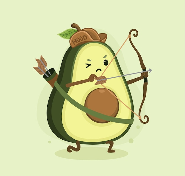 Cartoon avocado hood
