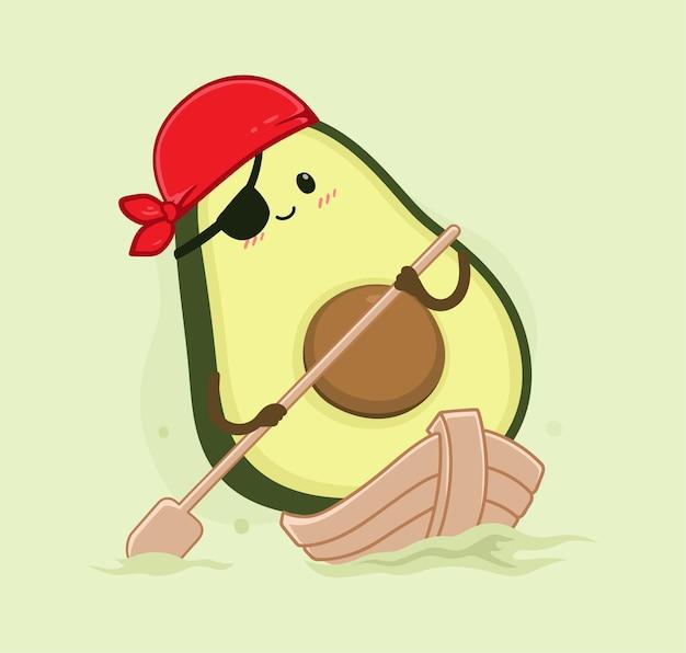 Мультфильм авокадо парусная лодка