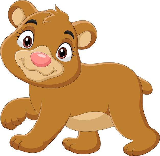 만화 아기 곰 산책