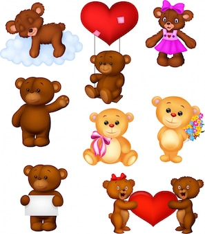 Cartoon baby bears collection set