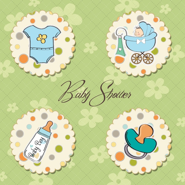 Cartoon baby boy items collection