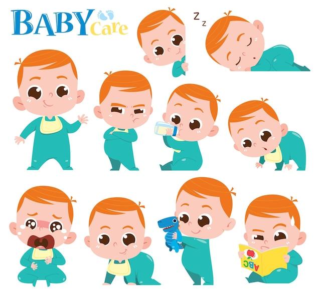 만화 아기 캐릭터 귀여운 아기