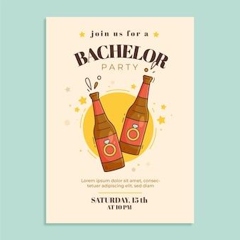 Cartoon bachelor party invitation