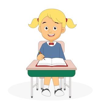 Cartoon back to school teacher