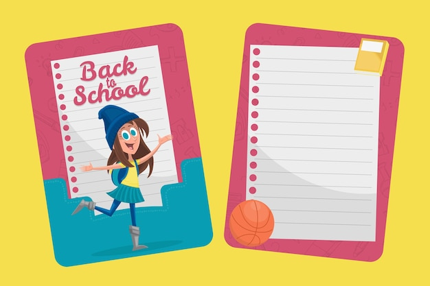 학교 카드 템플릿으로 다시 만화