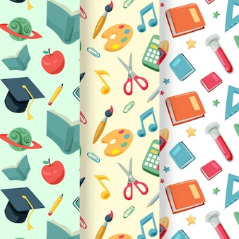 학교 패턴 컬렉션으로 다시 만화