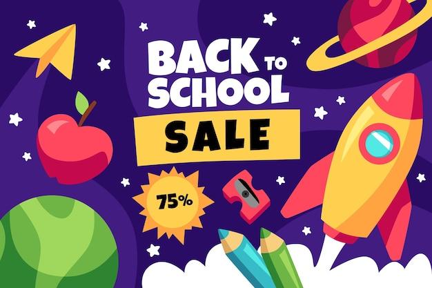 漫画の学校に戻る販売の背景