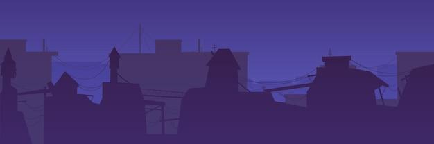 ゲームの夜の街の漫画の背景