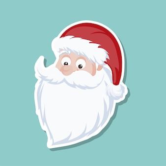 Cartoon background of santa claus face