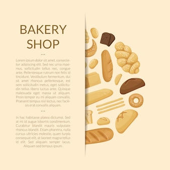 Cartoon bakery elements  of banner