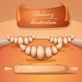 Cartoon bakery illustration
