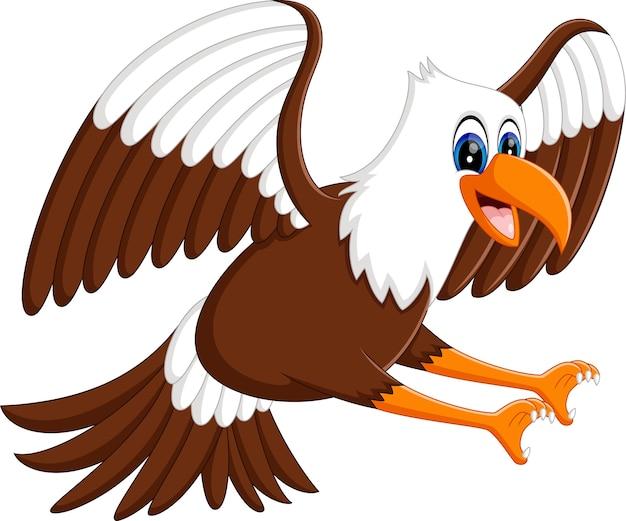 Cartoon bald eagle