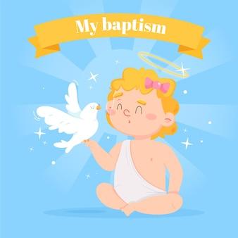 Illustrazione del concetto di battesimo del fumetto