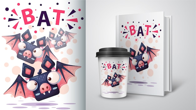 Cartoon bat illustration