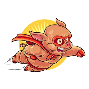 Cartoon bbq hero mascot