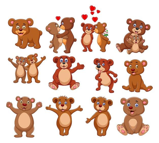 Cartoon bear collection set