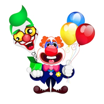 Cartoon beautiful clown