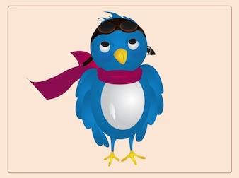 Cartoon Bird character flying vector