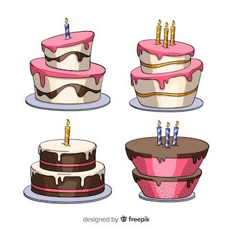 Cartoon birthday cake collection