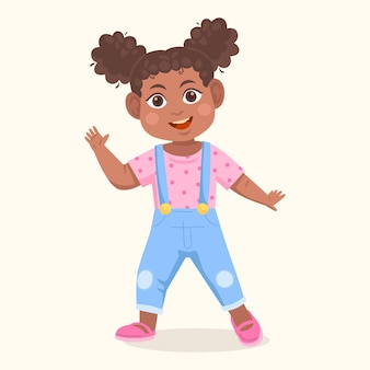 漫画の黒い女の子のイラスト