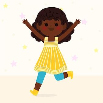 Illustrazione della ragazza nera del fumetto