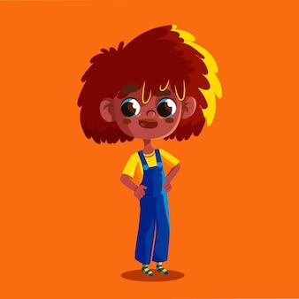 Мультфильм черная девушка иллюстрация