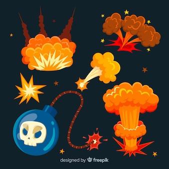 漫画爆弾と爆発効果のコレクション