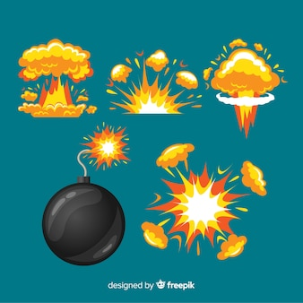 Cartoon bomb and explosion effect collection