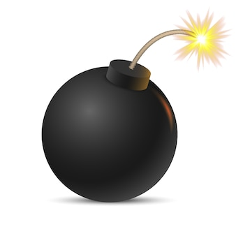 Cartoon bomb . vector