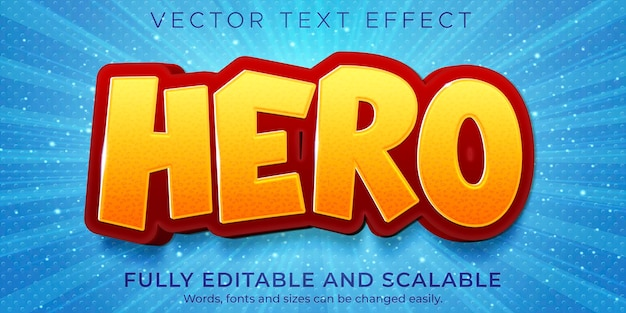 Cartoon boom text effect editable comic and funny text style
