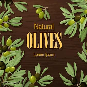Cartoon botanical decorative poster