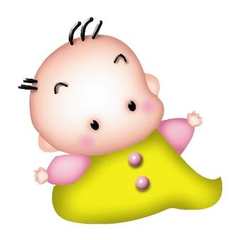 漫画の少年バービーキャラクター人形甘いモデル感情イラストクリップアート描画カワイイ