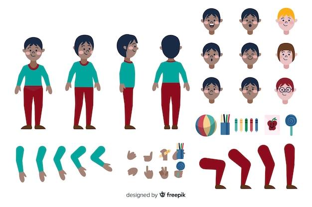 Cartoon boy character template