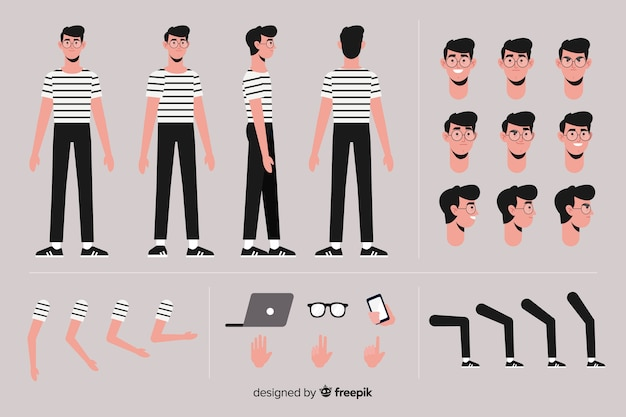 Cartoon boy character template