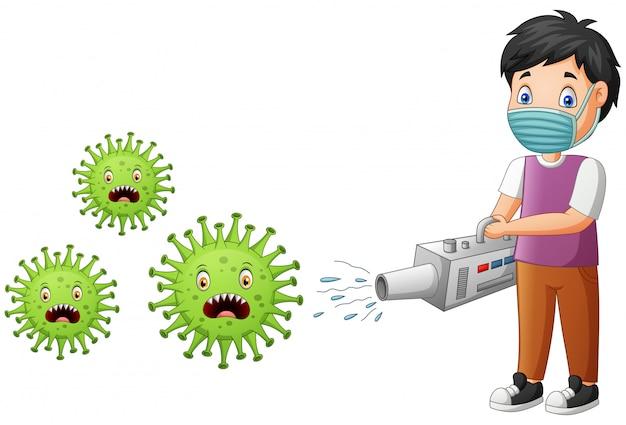 漫画少年はウイルスを根絶します。図