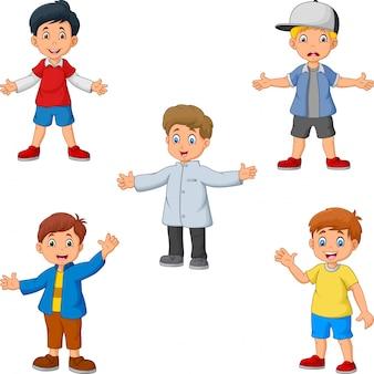 Cartoon boys a collection set