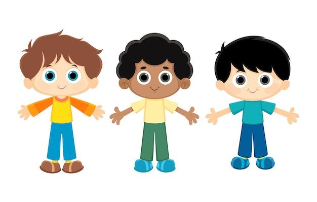 Cartoon boys