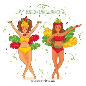 Accumulazione brasiliana del ballerino di carnevale del fumetto