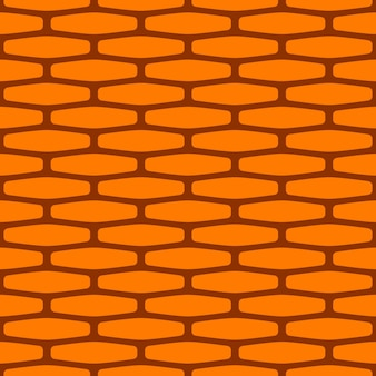 만화 벽돌 벽 완벽 한 패턴입니다. 게임, 웹 디자인, 섬유, 종이에 사용되는 밝은 질감.