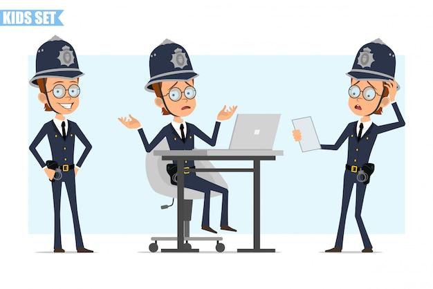 漫画イギリス警官少年文字セット