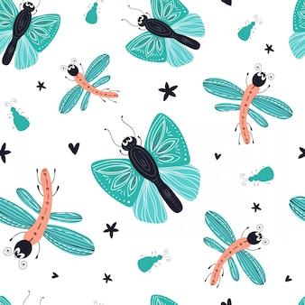 Cartoon bugs pattern