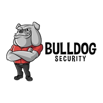 Cartoon bulldog character mascot logo