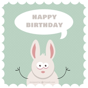Cartoon bunny b-day card